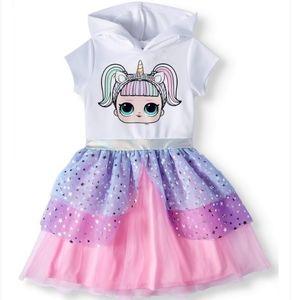 L.O.L. SURPRISE! Girls Hooded Tutu Dress